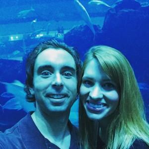 At the aquarium in the Dubai Mall