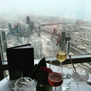 View during our high tea service