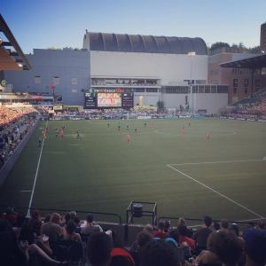 View from our seats at Providence Park